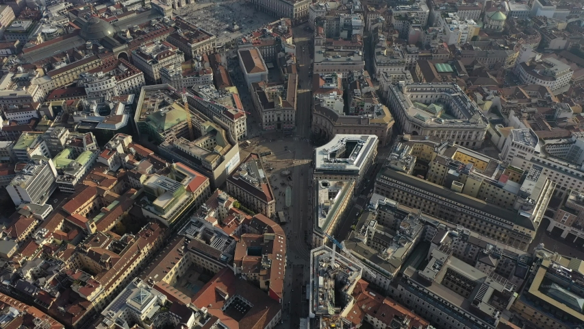 Milan Cathedral and city centre drone #1040820185
