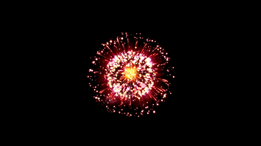 Colorful fireworks on black background. Set Of three beautiful, festive fireworks | Shutterstock HD Video #1040895728