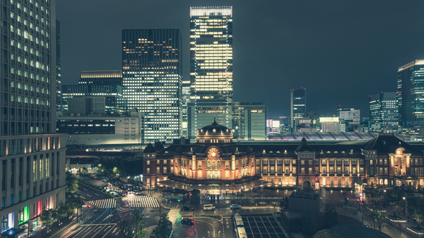 8k timelapse of Tokyo station at night, Japan | Shutterstock HD Video #1040929022