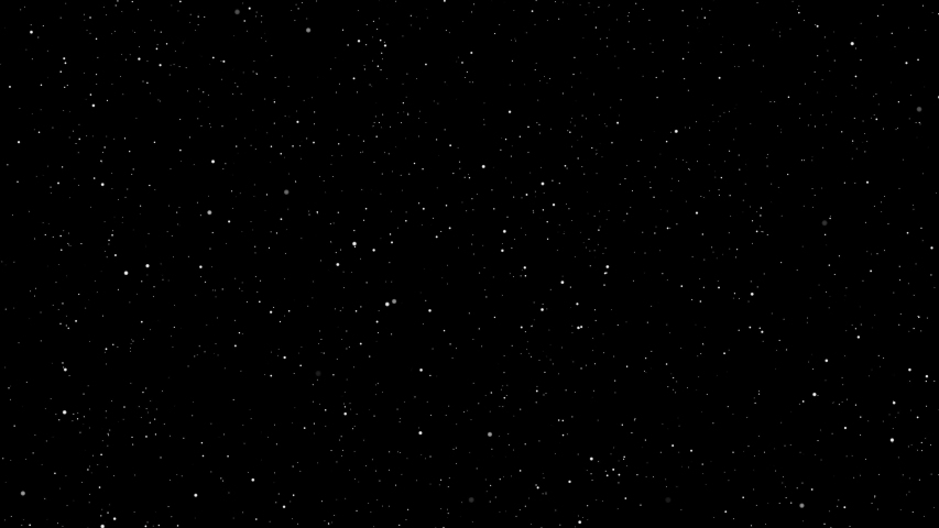 4K Video footage Motion of shinny  stars animation on black background.Graphic Motion overlay effect loop with galaxy sky twinkling light in the space with slow zoom and swirl rotation of camera angel | Shutterstock HD Video #1040969234