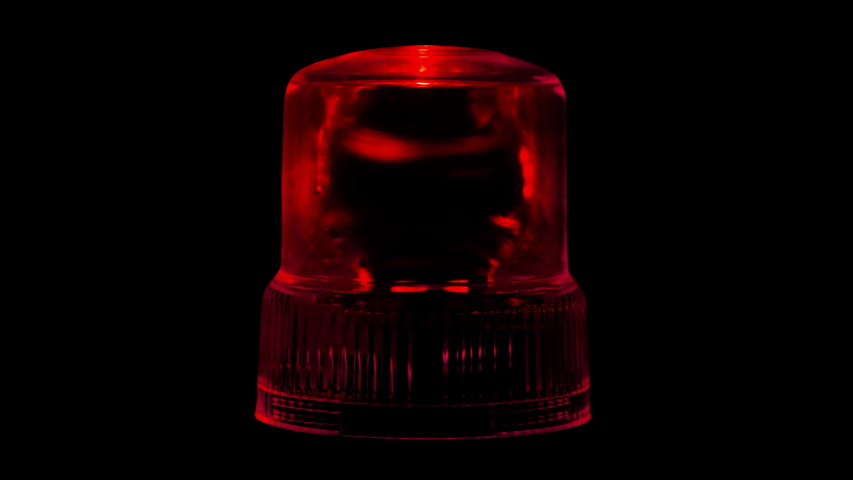 Red Emergency Flasher Siren Light 4K Loop Alpha