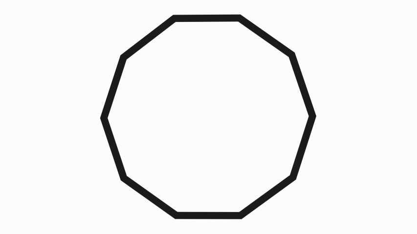 Set of 6 shape animation in white background. 2D geometric motion shapes including Pentagon, Hexagon, Heptagon, Octagon, Nonagon, Decagon . Animation for cartoon, Abtract art motion graphic. | Shutterstock HD Video #1041021773