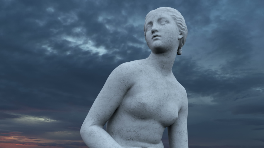 Nymph Figure Sculpture Statue 4K | Shutterstock HD Video #1041098248