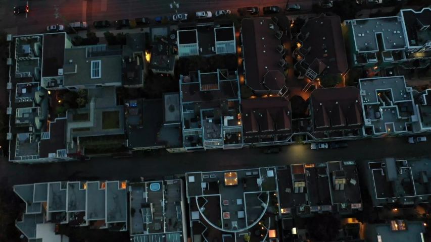 Vancouver Suburban Rooftops Aerial Drone Shot #1041171373
