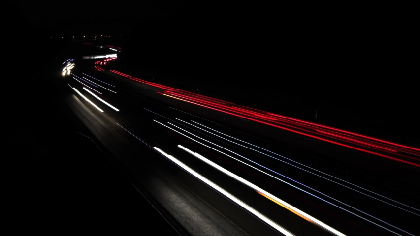 white and red light trails of traffic Royalty-Free Stock Footage #1041181690