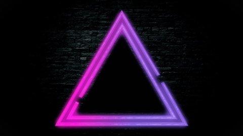 animated video neon light background