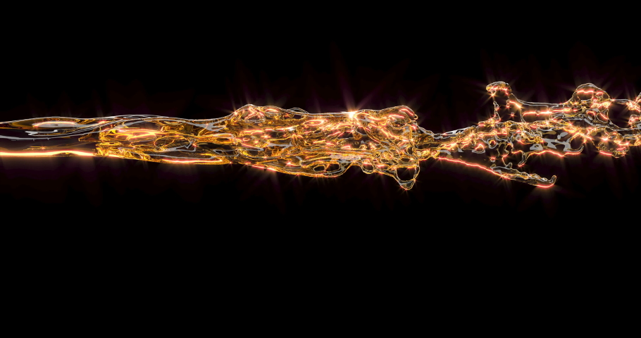 Yellow foamy beer is pouring with fine sprays on a black background. The stream of strong alcohol in slow motion strictly straight. Great video for your presentation. 4k | Shutterstock HD Video #1041263614