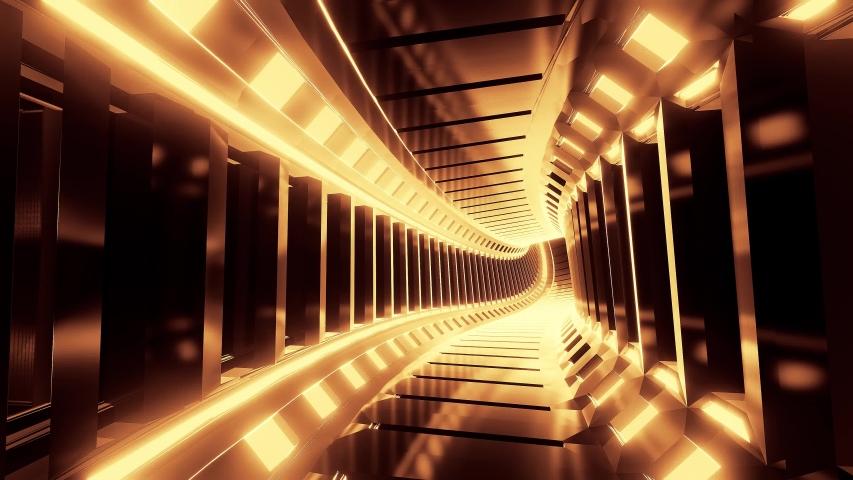 Abstract reflective design tunnel corridor 3d illustration live wallpaper motion background visual vj loop | Shutterstock HD Video #1041264772