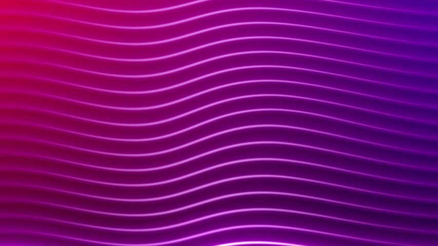 Rows Of Colorful Purple And Pink Stripes Rippling and moving smooth on screen. 4K 3D render animation for cool floating background #1041344284