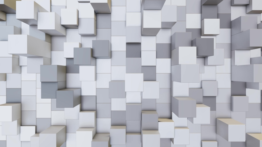 Abstract 3d rendering loopable video background with move multi-colored cubes | Shutterstock HD Video #1041407635