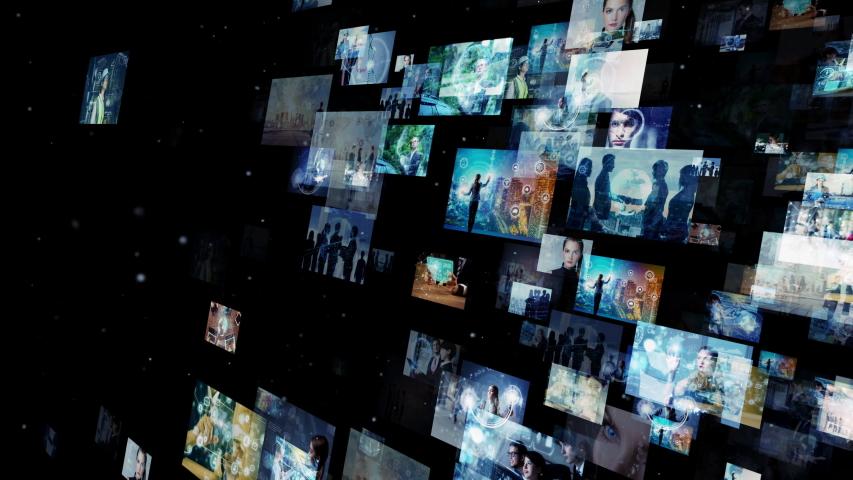 Social networking service concept. communication network. | Shutterstock HD Video #1041446821