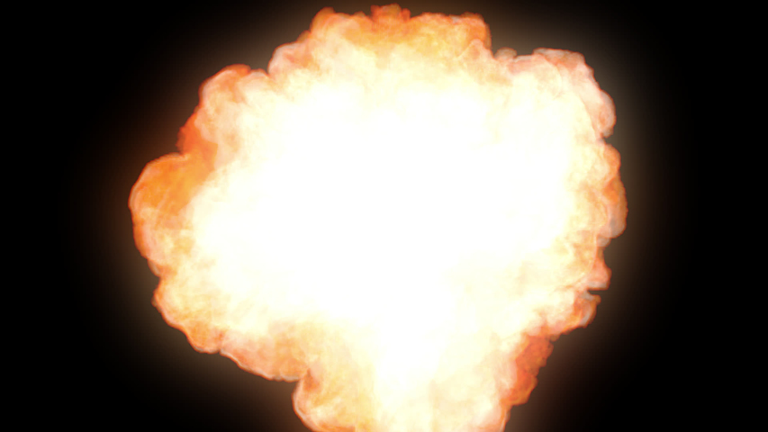 A fast rising flaming explosion covers the screen for a second creating a fast revealer for a logo or an intro or outro effect. Can also be used as a transition effect.  1080p - 30 fps - Alpha Channel