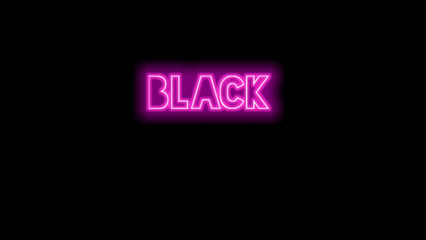 Black friday neon light on black background | Shutterstock HD Video #1041467872