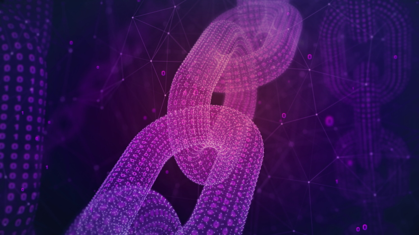 Beautiful 3D concept of a blockchain network made out of binary data. Loopable clip made in 4K 30fps. | Shutterstock HD Video #1041480709