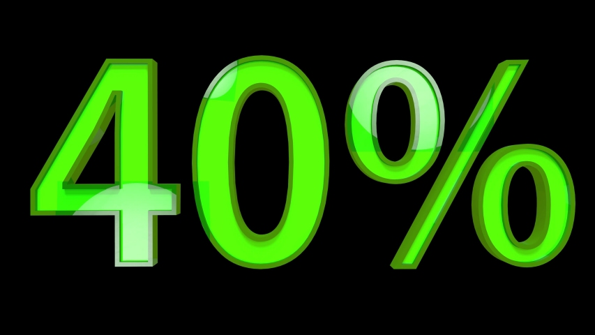 4K 40 Percent Discount Text Forming from Debris | Shutterstock HD Video #1041510511