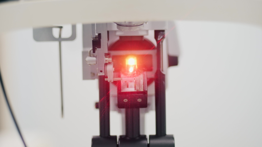 Eyes checking machine at a clinic. | Shutterstock HD Video #1041624520
