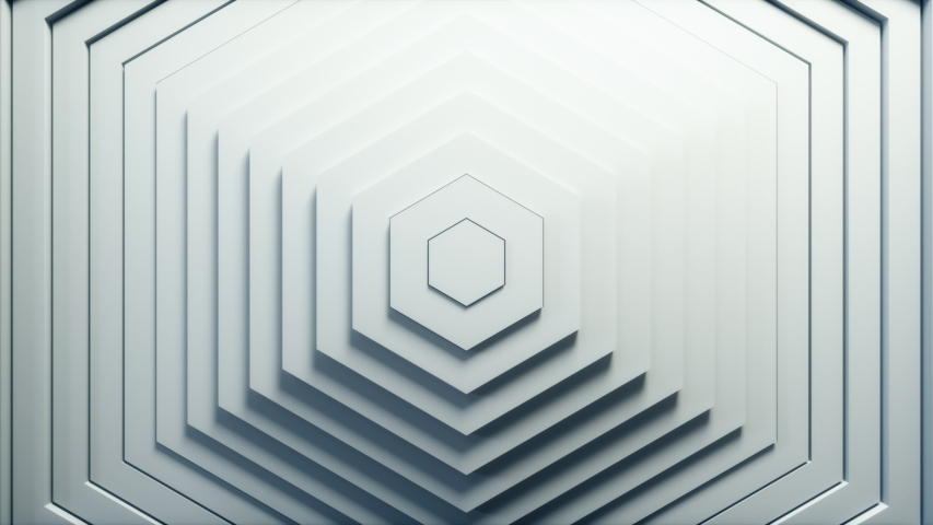 Abstract hexagon pattern with offset effect. Animation of white hexagons. Abstract background for business presentation. Seamless loop 4k 3D render | Shutterstock HD Video #1041630670