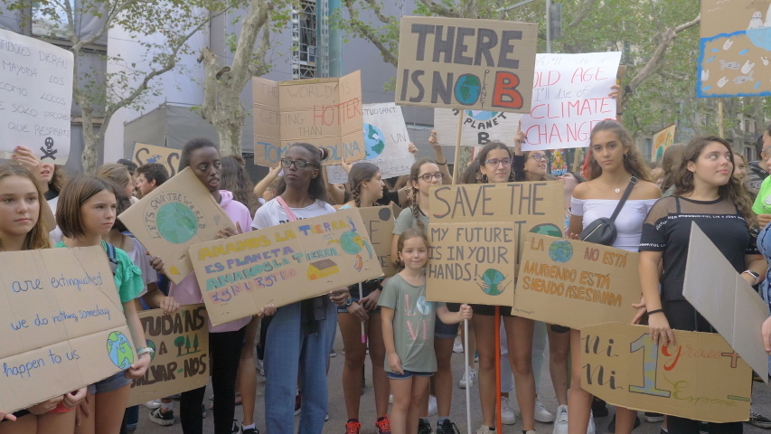 Barcelona,Spain,27 September 2019: Climate Strike Fridays For Future.2019 #1041642844