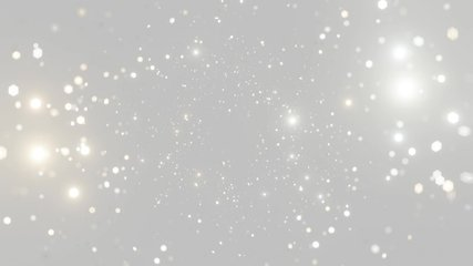 Abstract motion background shining silver particles. Shimmering Glittering Particles With Bokeh. Seamless 4K loop video