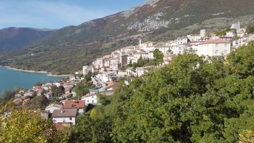 Scenic view in Barrea, province of L'Aquila in the Abruzzo region of Italy. | Shutterstock HD Video #1041661423