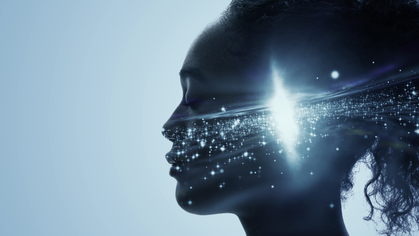 Science of human concept. AI (Artificial Intelligence). Mindfulness. | Shutterstock HD Video #1041767113