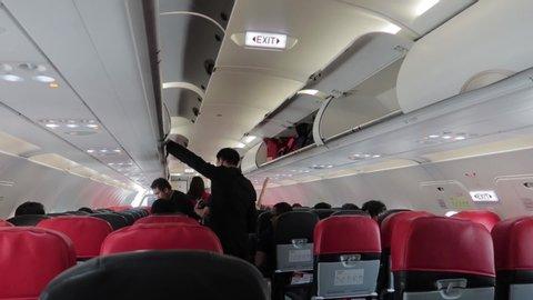 Wizzair Interior Flight Circa Video Stock A Tema 100 Royalty Free 11676059 Shutterstock