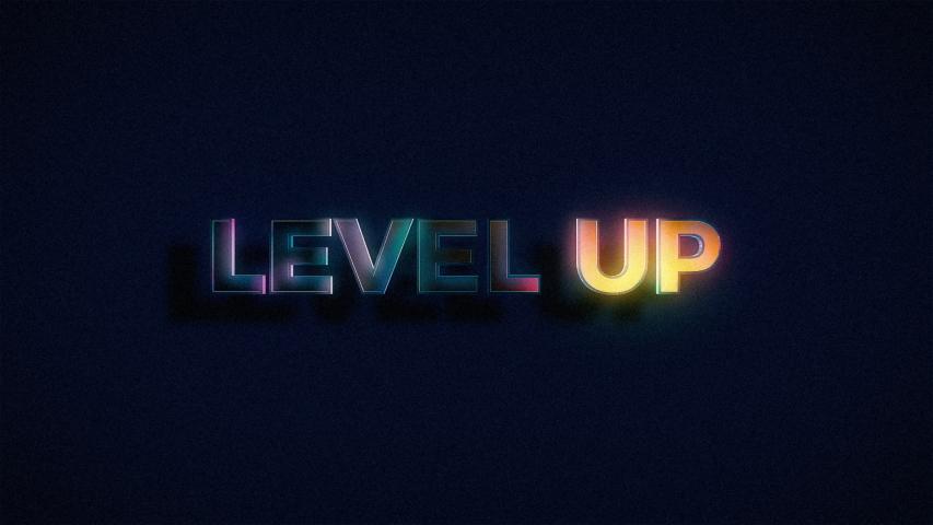 Retro Level Up Text Glitch   Shutterstock HD Video #1041808651