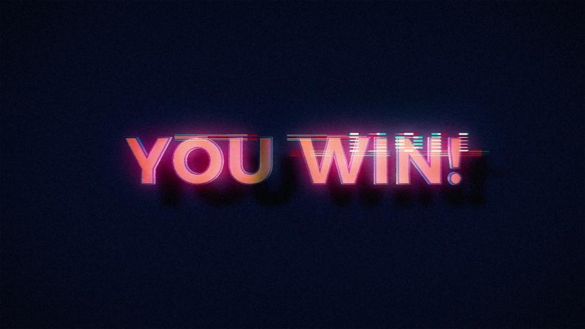 Retro Videogame You Win Glitch   Shutterstock HD Video #1041808660
