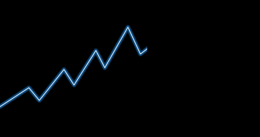 Graph moving on black background   Shutterstock HD Video #1041821521