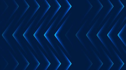 Blue abstract neon arrows tech motion design. Futuristic laser background. Seamless loop. Video animation Ultra HD 4K 3840x2160