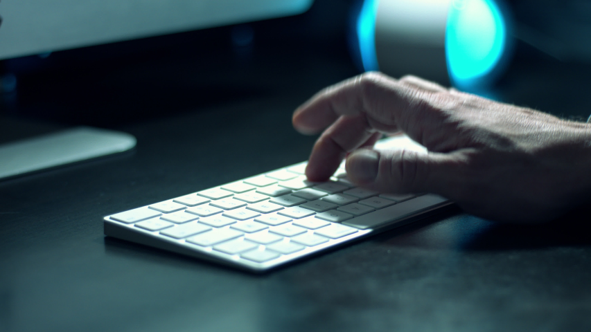 Typing password code to bank account and money transfer numbers on computer keyboard   Shutterstock HD Video #1041826777