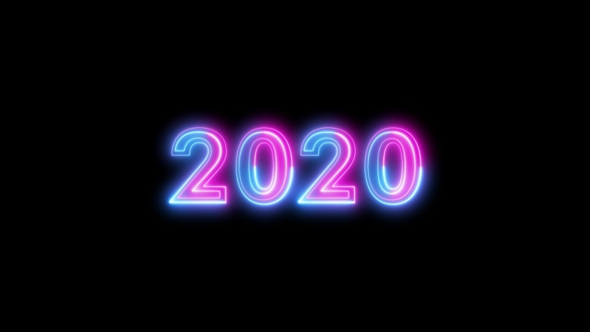 4k video animation with the text 2020 | Shutterstock HD Video #1041838594