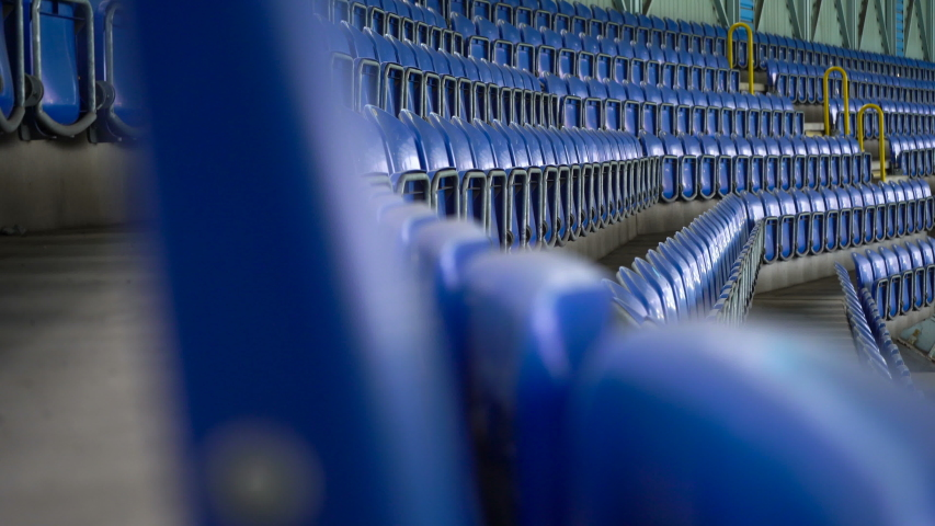 4K, Empty Rows and Seats of a Football Stadium | Shutterstock HD Video #1041893674