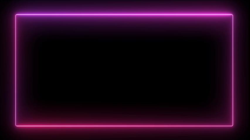 Seamless Looping Oval Lightning Neon Energy Frame Background or Border #1041897436
