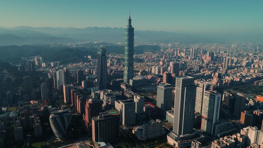 Hyperlapse of central Taipei at dawn, Taiwan
