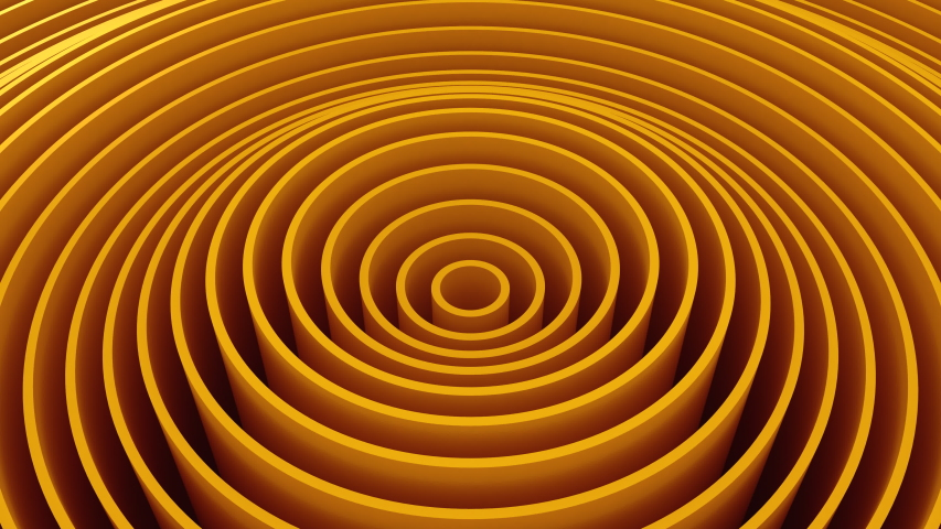 Circles Form A Wave. Abstract background, 4 in 1, loop, created in 4K, 3d animation