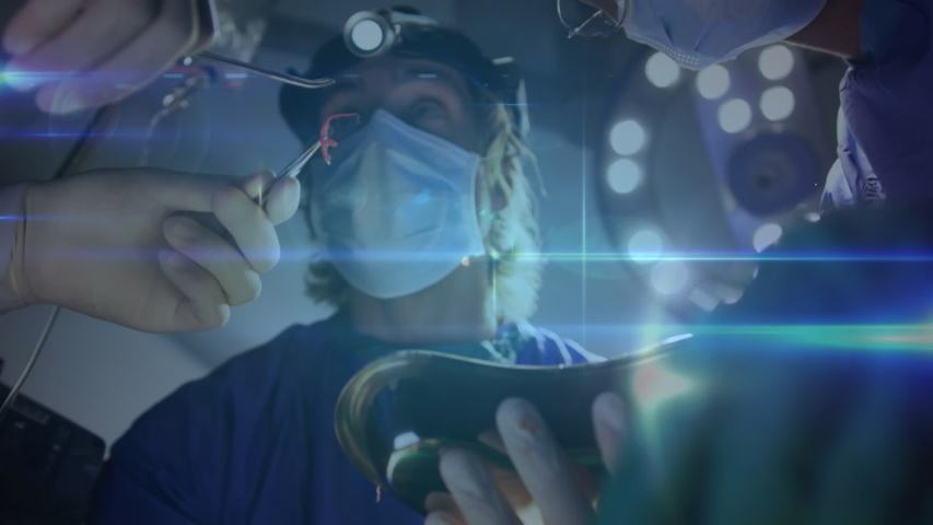 Animation of global network of connections over surgeons in the operating theatre | Shutterstock HD Video #1041954679