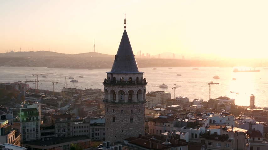 istanbul, galata tower, morning to day