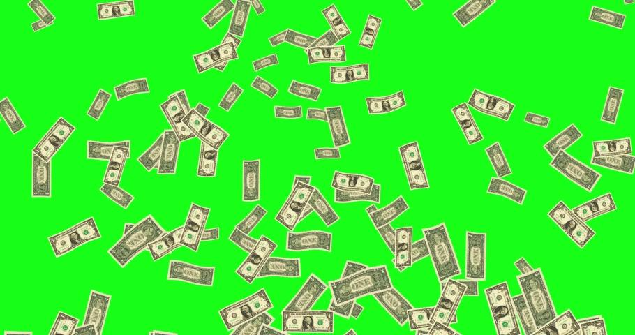 Green screen flying bills flying dollar flying green screen rising bills rising dollar rising green screen elevating bills elevating dollar elevating green screen animation bills animation dollar 3d | Shutterstock HD Video #1041991264