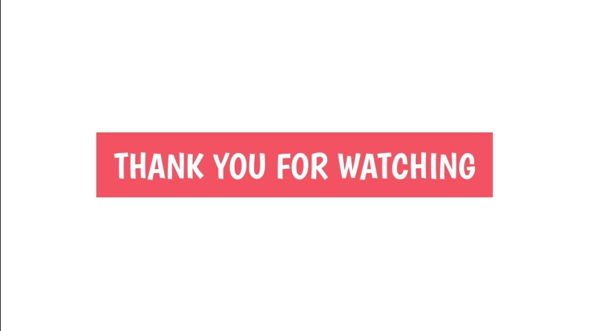 Thank you for watching motion graphics animation. Video cover animation text. Thanks for watching title.