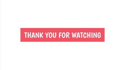 Thank You For Watching Cinematic Stock Footage Video 100 Royalty Free 1057954405 Shutterstock