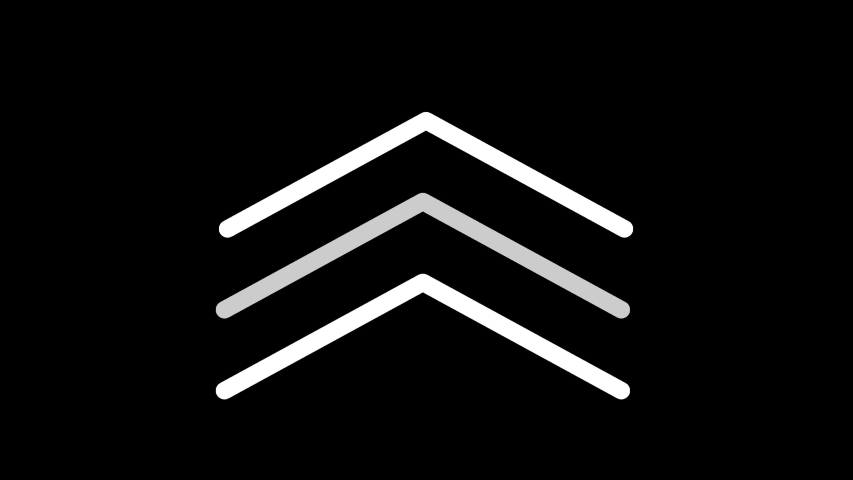 Arrows animation on a black background and Swipe up move animated 4k video | Shutterstock HD Video #1042029979