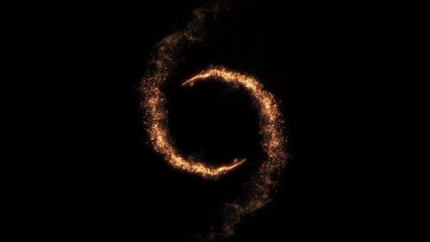 Intro Logo Reveal With Magic Golden Particles/ 4k animation of an abstract background with magic golden particles spiralling and disappearing   Shutterstock HD Video #1042076458