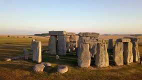 Stonehenge/England   Aerial video from Stonehenge , a famous landmark in England     taken by drone camera