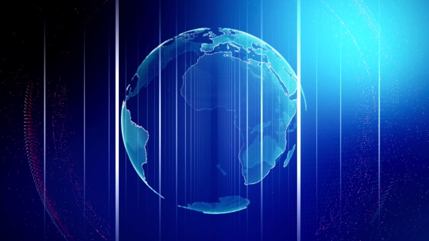 Global background world map communication technology planet media futuristic design | Shutterstock HD Video #1042157221