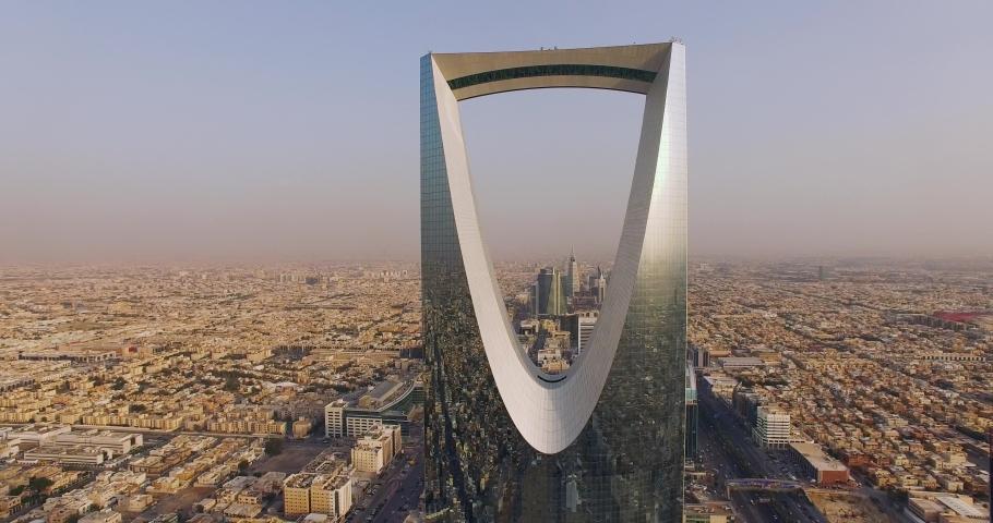 Riyadh ,Saudi Arabia /15-10-2018 Riyadh city scape Ariel view day time