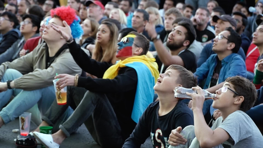 [St.Petersburg Russia 10 july 2018 football fans at the world championship] | Shutterstock HD Video #1042166038
