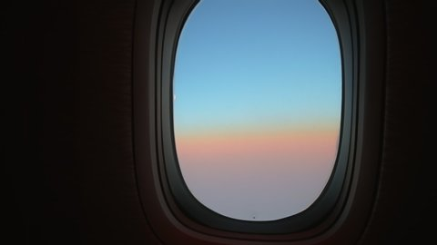 View Of Airplane Window Showing Stock Footage Video 100 Royalty