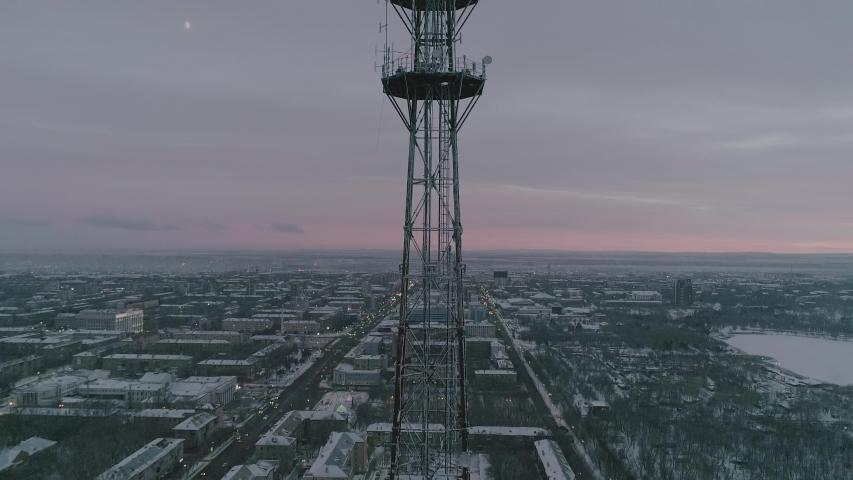 Tv tower of Karaganda. Kazakhstan. | Shutterstock HD Video #1042190134
