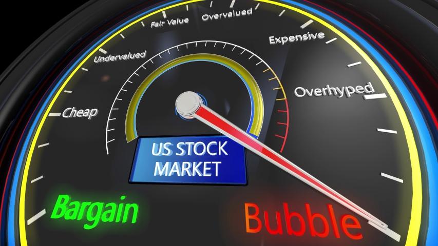 4K US Stock Market Bubble Meter 3D Aniamtion | Shutterstock HD Video #1042202602
